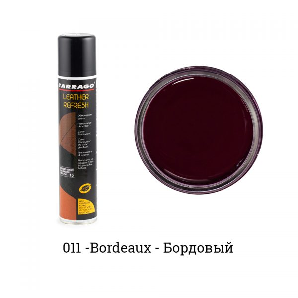 Аэрозоль-краситель для гладкой кожи Leather Refresh, 200мл. (бордовый)