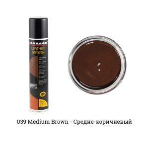 Аэрозоль-краситель для гладкой кожи Leather Refresh, 200мл. (средне-коричневый)
