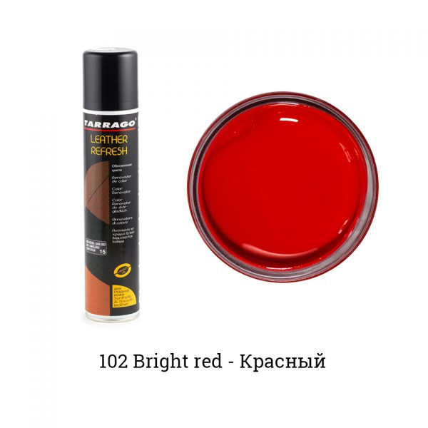 Аэрозоль-краситель для гладкой кожи Leather Refresh, 200мл. (bright red)