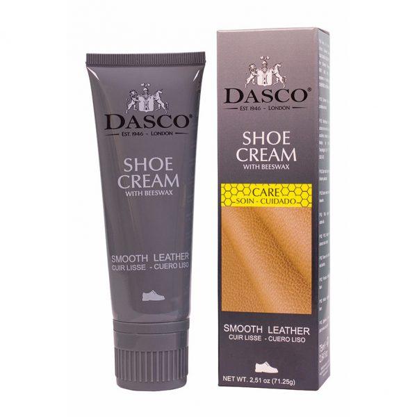 Крем для обуви Dasco, тюбик с губкой, 75мл. (средне-коричневый)
