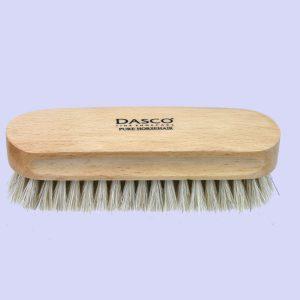 Щетка для обуви Dasco HORSEHAIR, бук, конский волос, 14см.