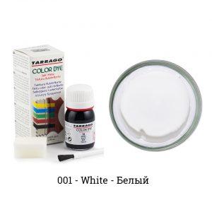 Укрывная краска Tarrago COLOR DYE, водно-восковая, 25мл. (белый)