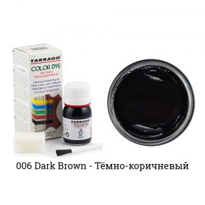 Укрывная краска Tarrago COLOR DYE, водно-восковая, 25мл. (темно-коричневый)