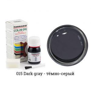 Укрывная краска Tarrago COLOR DYE, водно-восковая, 25мл. (темно-серый)