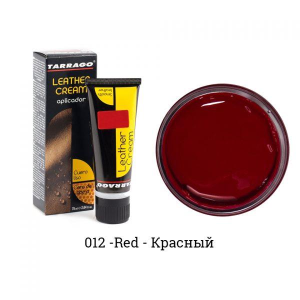 Крем для обуви в тюбике Tarrago, БОЛЬШОЙ, 75мл. (красный)