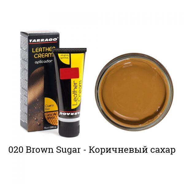 Крем для обуви в тюбике Tarrago, БОЛЬШОЙ, 75мл. (brown sugar)