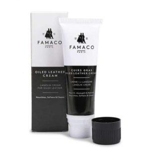 Крем для обуви с ланолином для жированной кожи и нубука, FAMACO, 75 мл