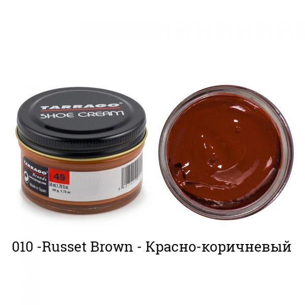Крем Tarrago SHOE Cream 50мл. (russet brown)
