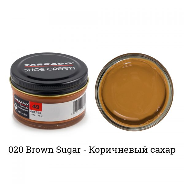Крем Tarrago SHOE Cream 50мл. (brown sugar)