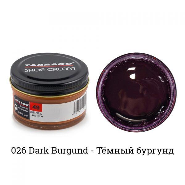 Крем Tarrago SHOE Cream 50мл. (dark burgundy)