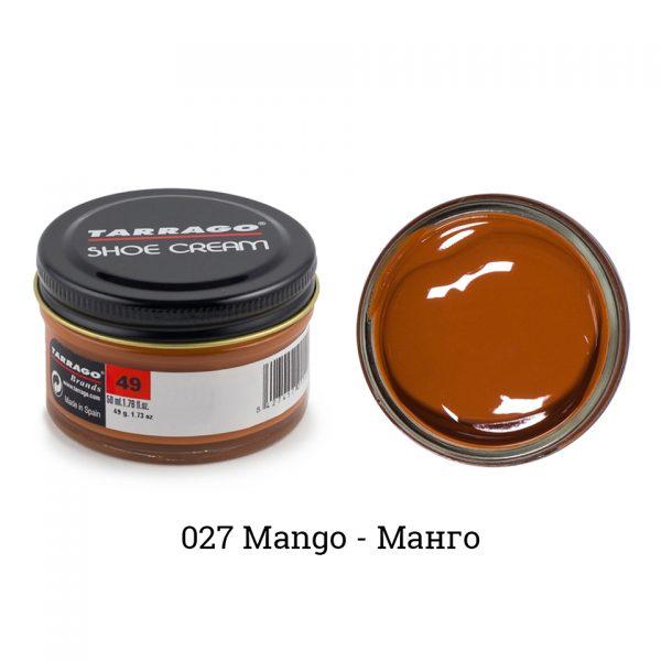 Крем Tarrago SHOE Cream 50мл. (mango)
