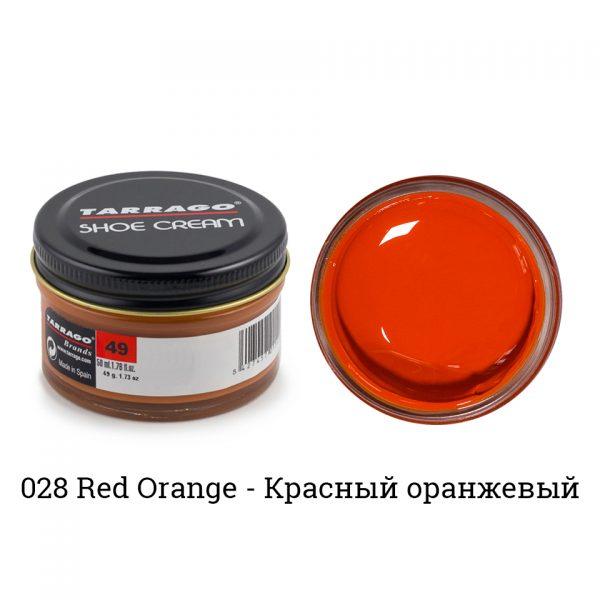 Крем Tarrago SHOE Cream 50мл. (красно-ранжевый)