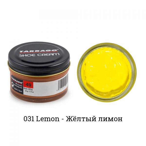 Крем Tarrago SHOE Cream 50мл. (lemon)