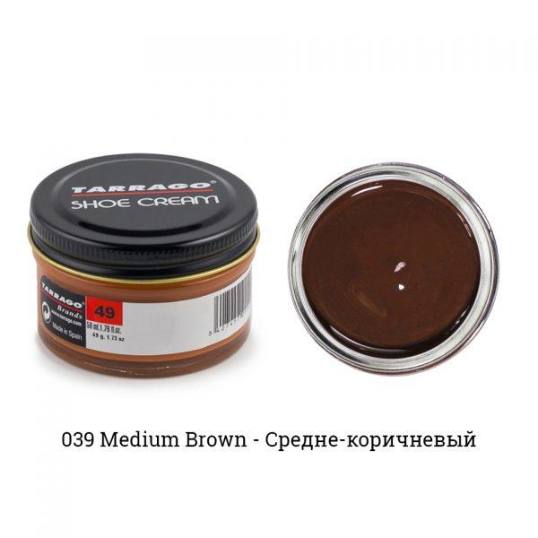 Крем Tarrago SHOE Cream 50мл. (средне-коричневый)