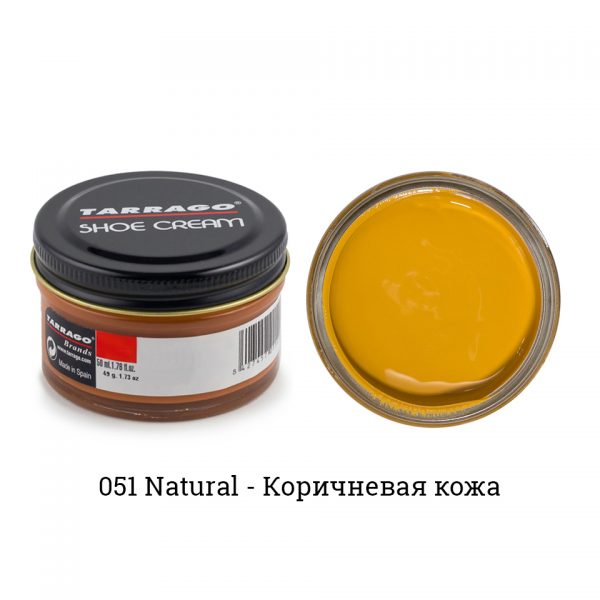 Крем Tarrago SHOE Cream 50мл. (natural)