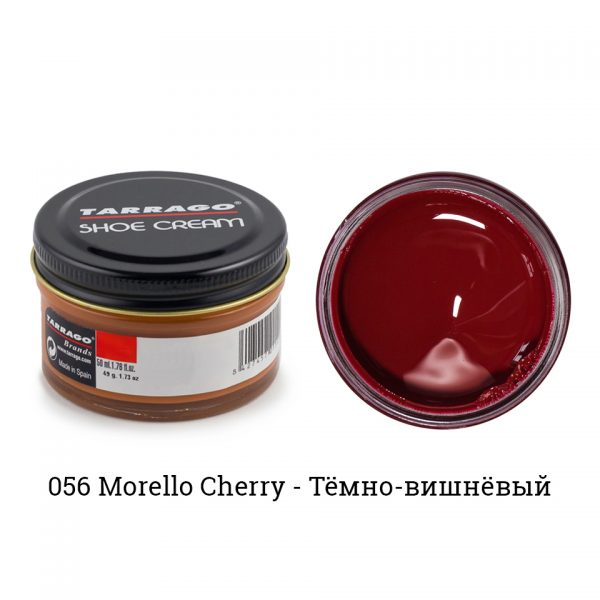 Крем Tarrago SHOE Cream 50мл. (morello вишневый)