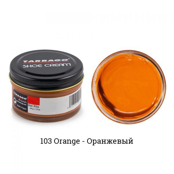 Крем Tarrago SHOE Cream 50мл. (Оранжевый)