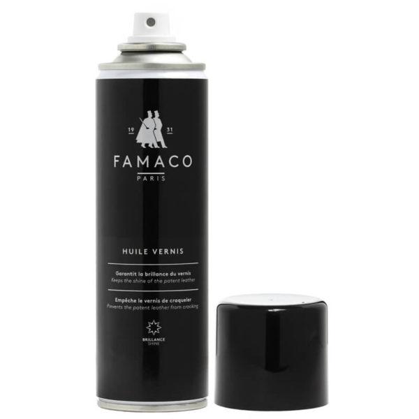 Спрей-полироль для лакированной кожи, FAMACO, черный, 250 мл