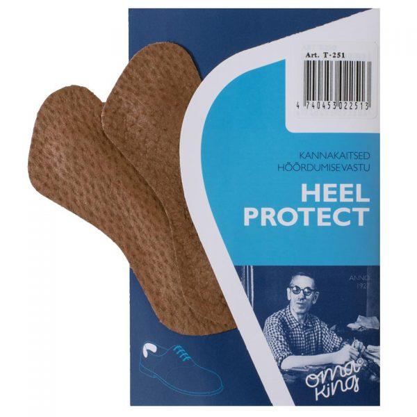 Пяткоудерживатель HEEL PROTECT, OmaKing, велюр, кожа или гель, универсальный размер