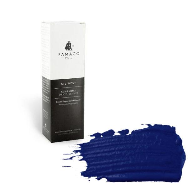 Крем-воск для обуви FAMACO,темно-синий 378, 75 мл