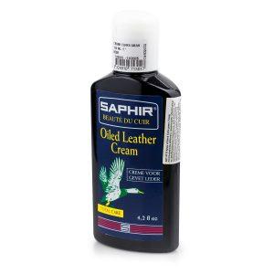 Крем для жированных кож и нубука Saphir GREASY Leather (черный)