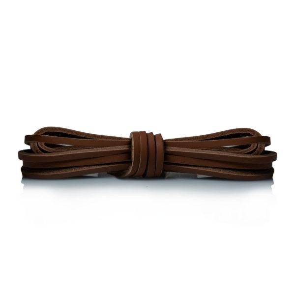 Кожаные шнурки Saphir 120см. (37 средне-коричневый)