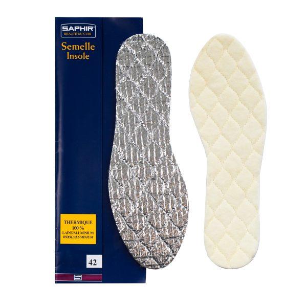 Зимние алюминиевые стельки Saphir THERMIQUE 100%, р.46