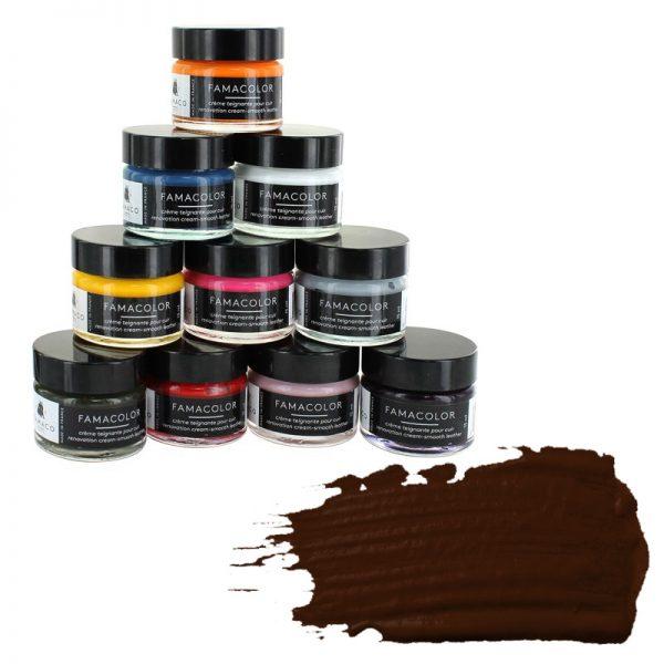 Жидкая кожа FAMACO, BRUN, темно-коричневая 320, 15 мл