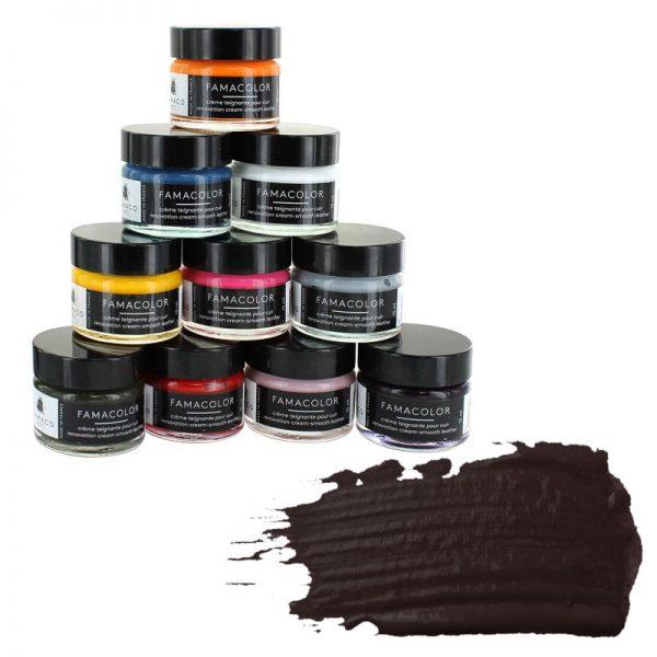 Жидкая кожа FAMACO, MARRON FONCE, темно-коричневая 337, 15 мл