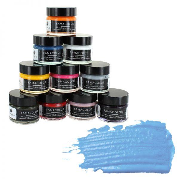 Жидкая кожа FAMACO, BLEU CIEL, голубая 352, 15 мл