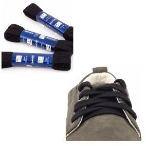 Шнурки Saphir 150см. Плоские, 10мм, (702 черный)