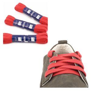 Шнурки Saphir 120см. Плоские, 10мм, (11 красный)
