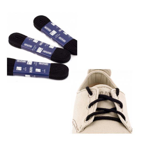 Шнурки Saphir 45см. круглые, толстые (702/01 черный)