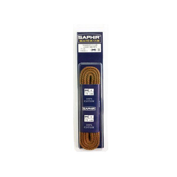 Шнурки Saphir 75см. круглые, толстые (03 светло-коричневый)