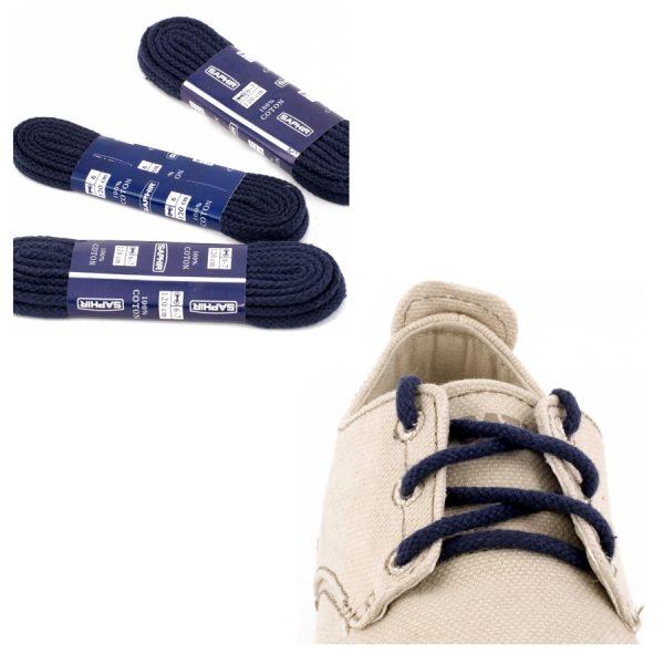 Шнурки Saphir 90см. круглые, толстые (06 темно-синий)