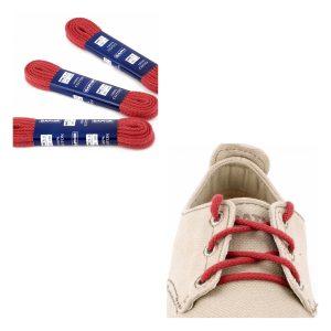 Шнурки Saphir 150см. круглые, толстые (12 темно-красный)
