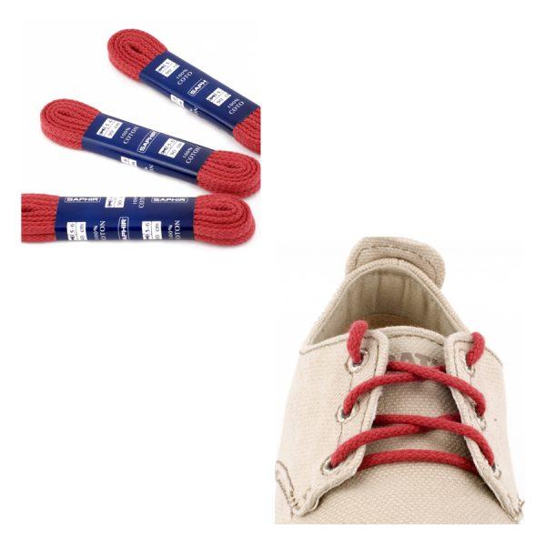 Шнурки Saphir 90см. круглые, толстые (12 темно-красный)