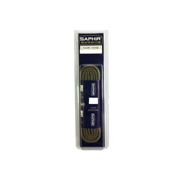 Шнурки Saphir 75см. круглые, толстые (14 серый)