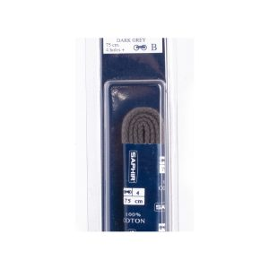 Шнурки Saphir 90см. круглые, толстые (15 темно-серый)