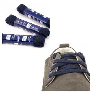 Шнурки Saphir 120см. Плоские (722 тем.синий)