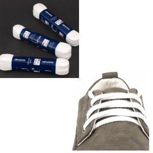 Шнурки Saphir 150см. Плоские, 8мм, (21 белый)