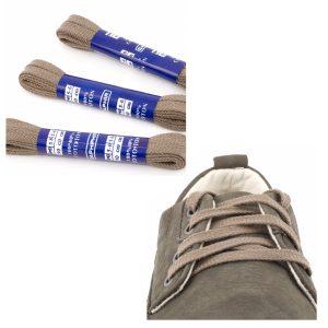 Шнурки Saphir 90см. Плоские, 8мм, (14 серый)