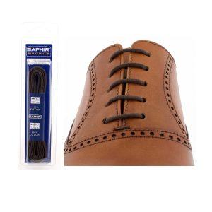 Шнурки Saphir 75см. круглые, тонкие (732 тем.коричневый)