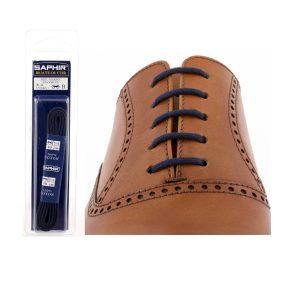 Шнурки Saphir 90см. круглые, тонкие (722 тем.синий)