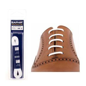 Шнурки Saphir 90см. круглые, тонкие (701 белый)
