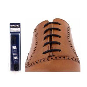 Шнурки Saphir 150см. круглые, тонкие (01 черный)