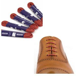 Шнурки Saphir 75см. круглые, тонкие с пропиткой (11 красный)