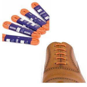Шнурки Saphir 75см. круглые, тонкие с пропиткой (52 оранжевый)