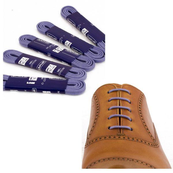 Шнурки Saphir 90см. круглые, тонкие с пропиткой (66 сине-фиолетовый)