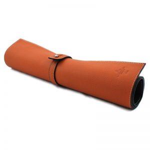 Коврик из натуральной кожи La Cordonnerie Anglaise, 49*35, оранжевый